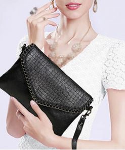 Crocodile Chain Cross Body Clutch 6