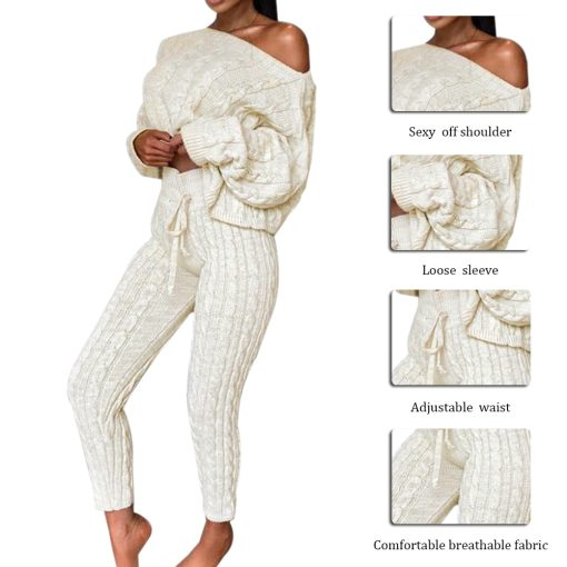 Knit Loungewear Cropped Set 5