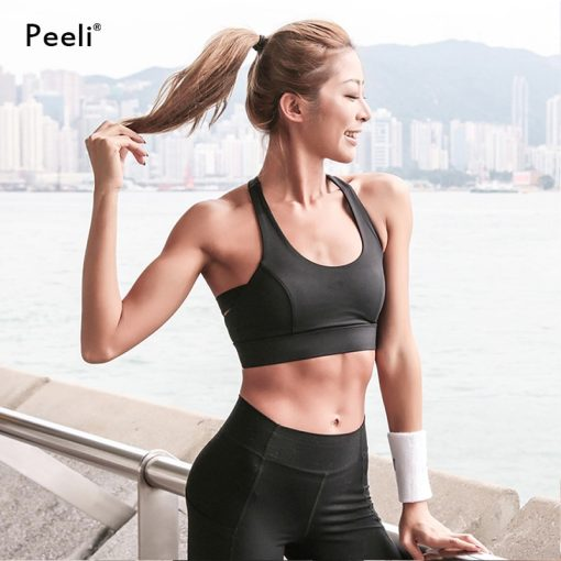 Seamless Backless High Support Sports Crop Top 4
