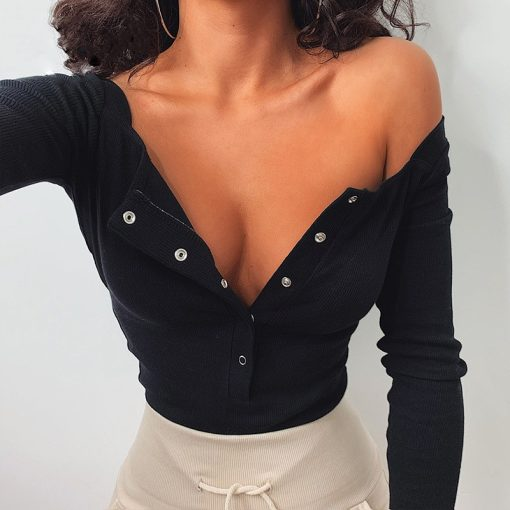 Button Up Long Sleeve Bodysuit