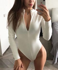 Long Sleeve Zip Up Bodysuit 247x296 - Long Sleeve Zip Up Bodysuit