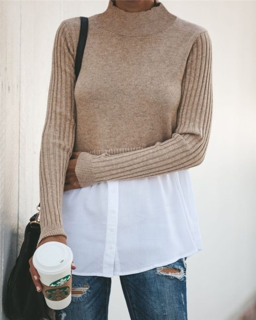 Turtleneck Double Layered Sweater Top 10
