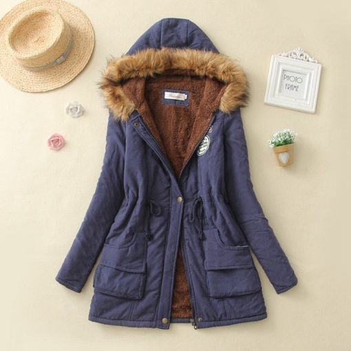 Faux Fur Hooded Winter Coat 17