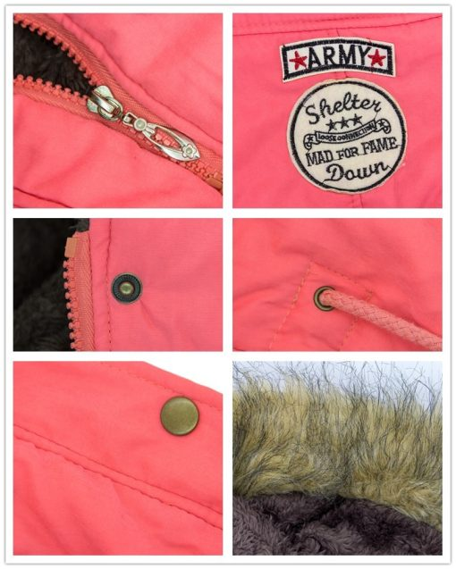 Faux Fur Hooded Winter Coat 6