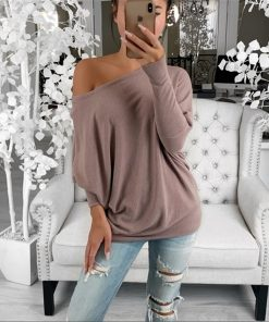 Loose Oversized Off the Shoulder Top