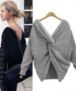 Reversible Twisted Long Sleeve Sweater