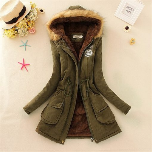 Faux Fur Hooded Winter Coat 3