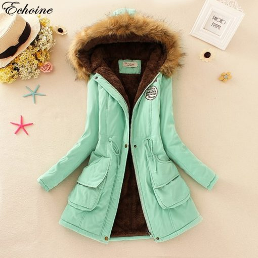 Faux Fur Hooded Winter Coat 2