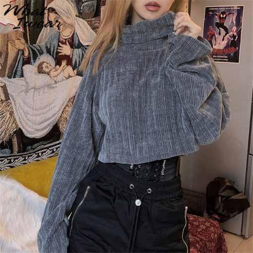 Cropped Turtleneck Knitted Sweater 6