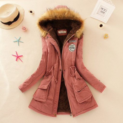 Faux Fur Hooded Winter Coat 20