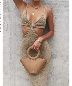 Vacation Vibes Knitted Cut Out Maxi Dress